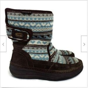 Skechers Shoes - Skechers brown leather tone ups sweater boots